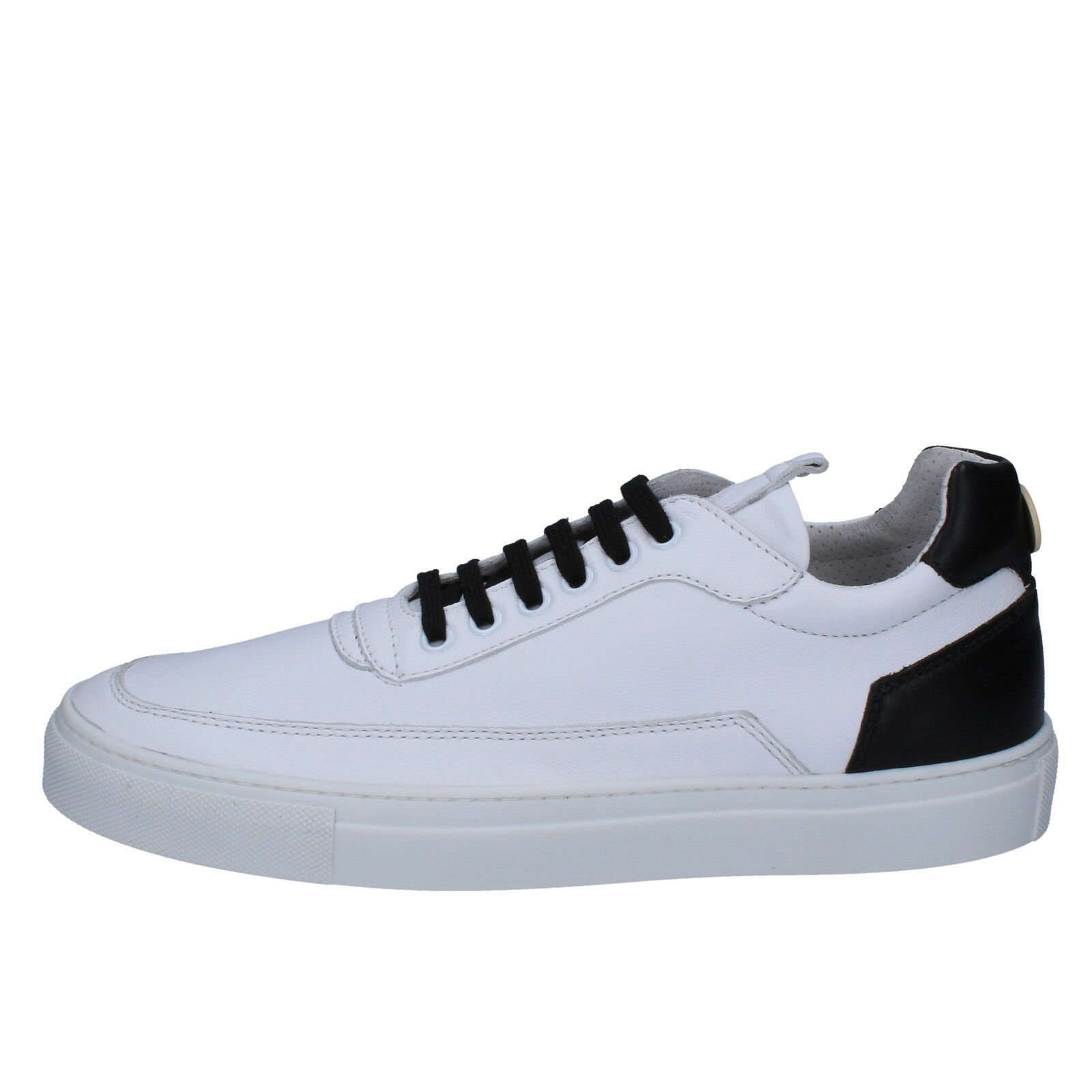 Mens shoes MARIANO DI VAIO 10 (EU 44) sneakers white black leather AB771-G