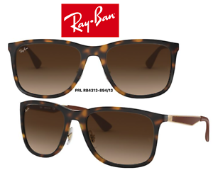 771a5c37fe6e3 Ray-Ban RB4313 894 13 Sunglasses Tortoise Gold Brown Gradient 100 ...