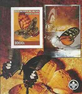Timbre-Papillons-Benin-annee-2008-lot-18328