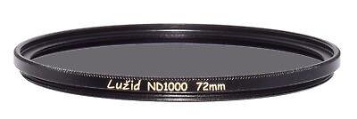 LUŽID X2 72mm ND1000 MC Filter Schott B270 Glass Brass Frame ND 3.0 Multi-Coated 72 Luzid