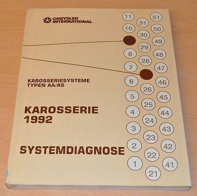 Gewidmet Werkstatthandbuch Chrysler 1992 Karosserie Typen Aa As Systemdiagnose Im Sommer KüHl Und Im Winter Warm