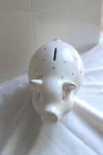 Tiffany & Co Earthenware Piggy Bank- Baby Girl Gift, PINK piggy bank