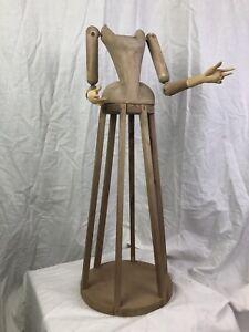 Madonna Manichino Gabbia Stile '600 Vintage legno Statua Santa 50Cm statua sacra