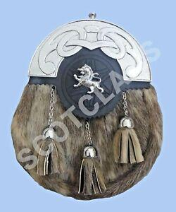 Avoir Un Esprit De Recherche Scottish Kilt Sporran Peau De Phoque Celtique Troussequin Lion Rampant Highland Ware-afficher Le Titre D'origine 100% D'Origine