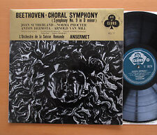 ACL 77 Beethoven Choral Symphony 9 Sutherland Ansermet EX/EX Decca Grvd Mono