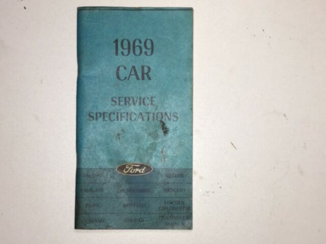 Other American Auto Catalogs Transportation 1969 Ford Passenger Car Preliminary Shop Manual First Printing August 1968 Oem