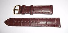 USED 20mm Brown Genuine Leather Band with 18mm Gold Colored Buckle for Rolex