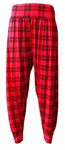 Ladies Plus Size Printed Harem Pants Womens Cuffed Bottom Ali Baba Trousers 8-26