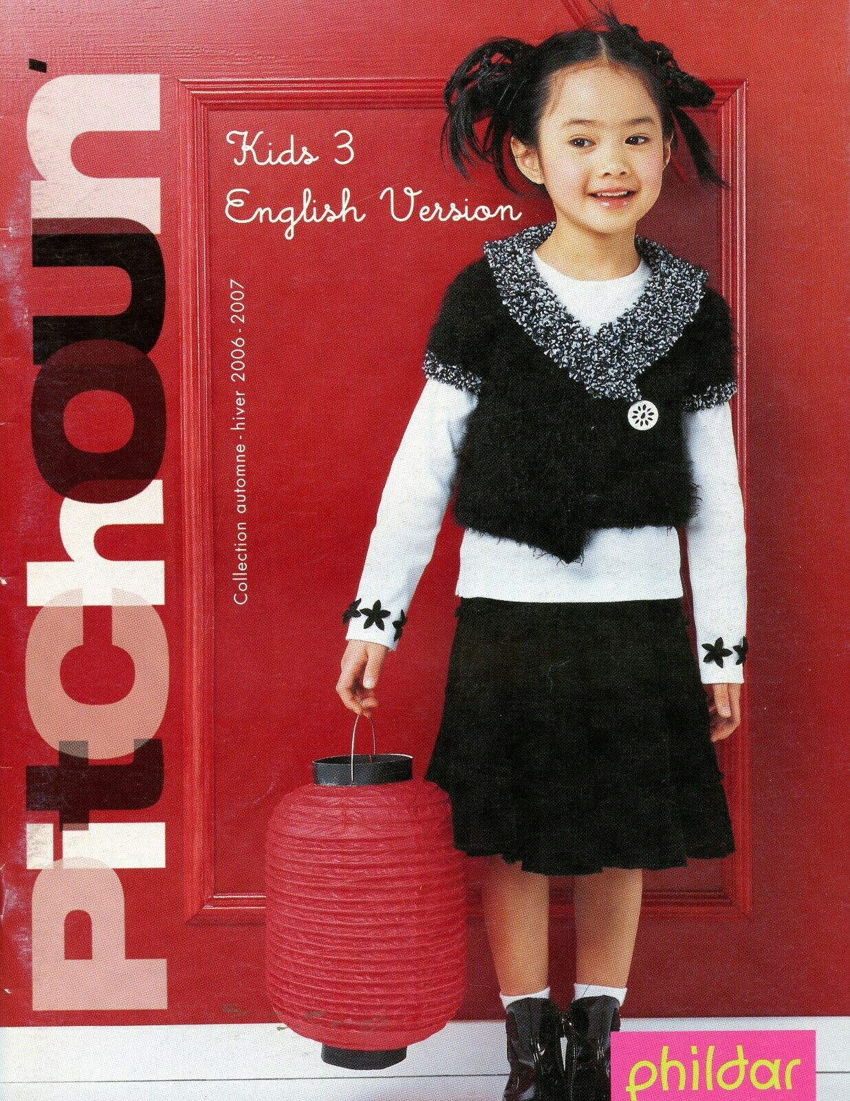 Phildar Kids 3 English Version Knitting /& Crochet Pattern Book 48 Designs 2-10