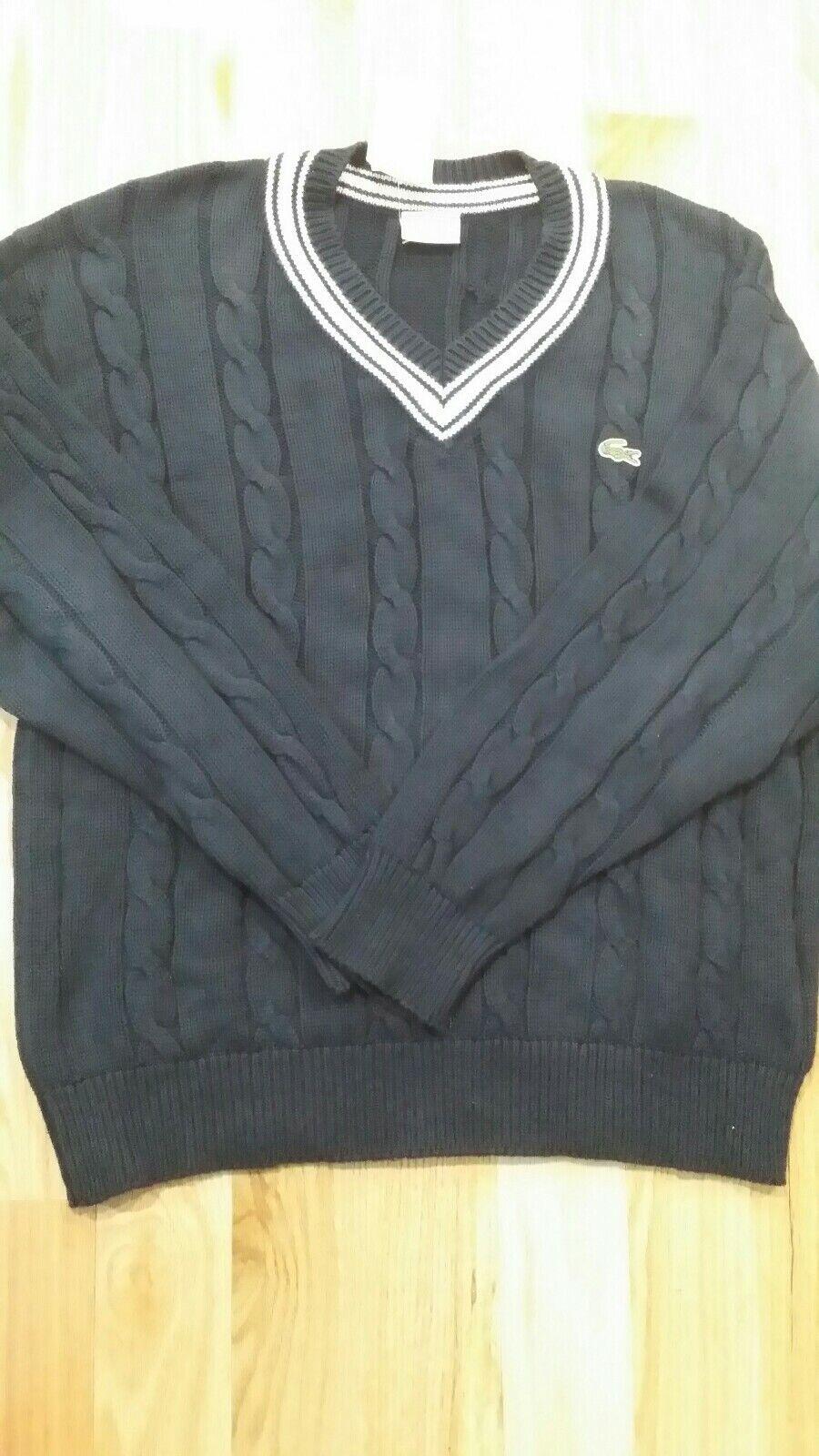 VIntage Lacoste Sport bluee Sweater Size L Long sleeves
