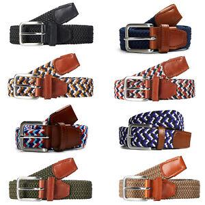 une grande variété de modèles beau lustre style distinctif Détails sur Jack & Jones Tissé ceinture homme textile cuir classique été  jacspring- afficher le titre d'origine
