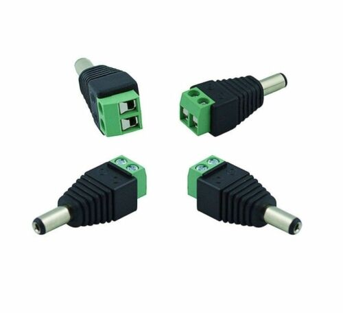 10pcs Female Male DC Connector 2.1x5.5mm Plug Jack Adapter for Led Strip /& CCTV