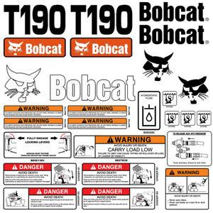 Bobcat T190 Turbo Skid Steer Set Vinyl Decal Sticker Made In Usa