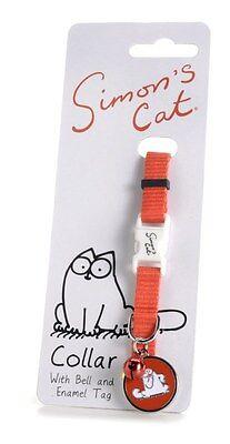 Simon's collar de gato con cascabel y esmalte tag pet sharples 'n' grant