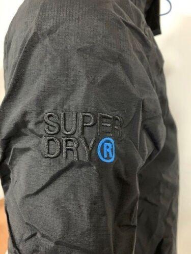 SUPERDRY M50010LPNS//RH5 TECH HOOD POP ZIP WINDCHEATER NB SUPER DENBY BLACK