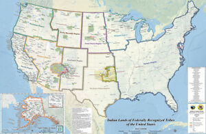 Indian Lands Of Federally Recognized Tribes Of The Us Map Native - Map-of-indian-lands-in-the-us
