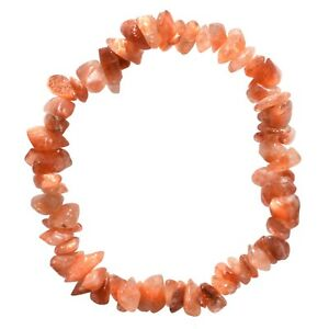 Premium-CHARGED-Sunstone-Crystal-Chip-Stretchy-Bracelet-REIKI-Good-Luck-Crystal