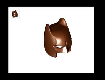 New LEGO Minifig Dark Flesh HEAD White Headband Stubble Batman Movie Catman