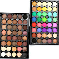 40 Farben Neutral Lidschatten Palette Eyeshadow Matt Schimmer Augen Lidschatten