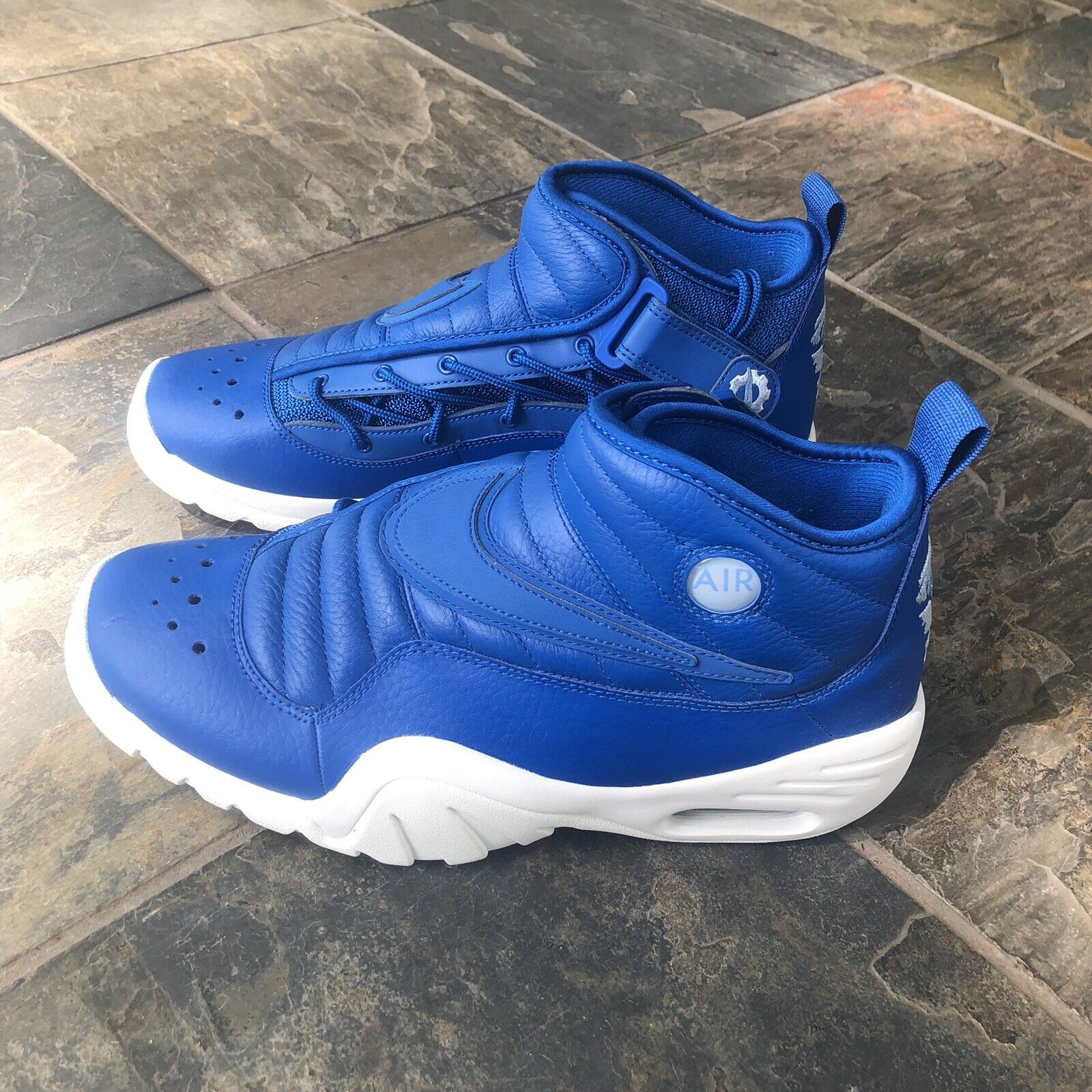 NEW Nike Air Shake NDestrukt Rodman Dennis White blueee 880869-401 Jordan Size 13