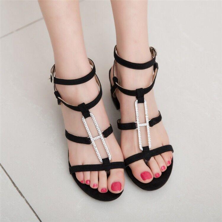 Summer Hollow Out romaine Sandale Femme Talon Boucle Chaussures Toutes Les Etats-Unis Taille FASHION & &