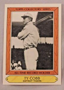Details About 1985 Topps All Time Record Holder Ty Cobb Detroit Tigers Baseball Card