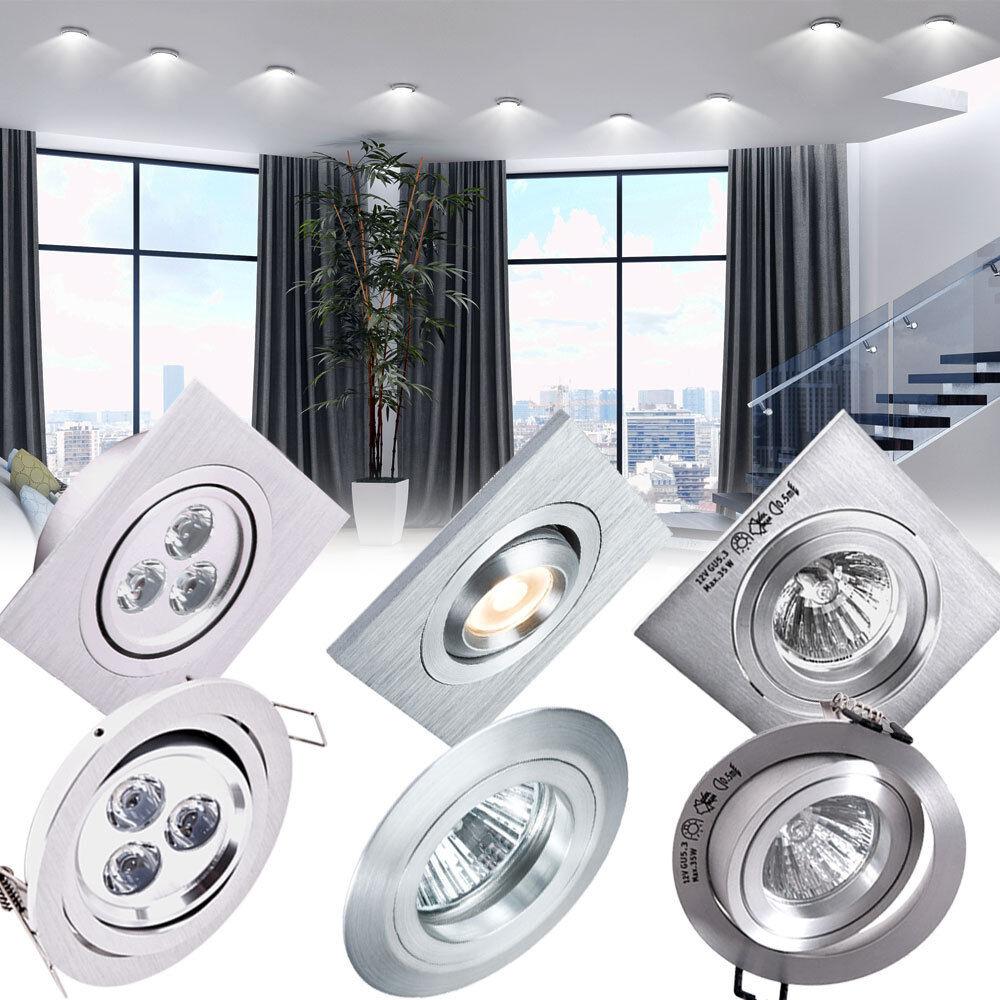 Paulmann ensemble de trois projecteurs de montage Spot plafonnier LED couloir de