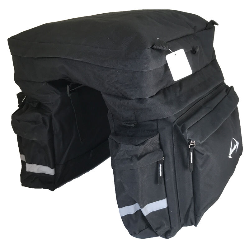Bicicleta Bolsa Maletero Portaequipajes Equipaje Cq-Triple black  64 Litros  80% off