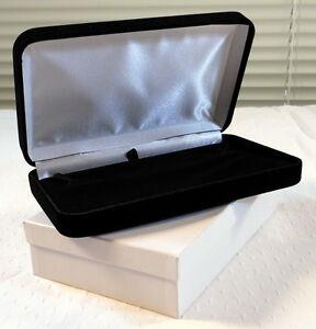 6 Elegant Large Black Velvet Jewelry Presentation Gift Boxes