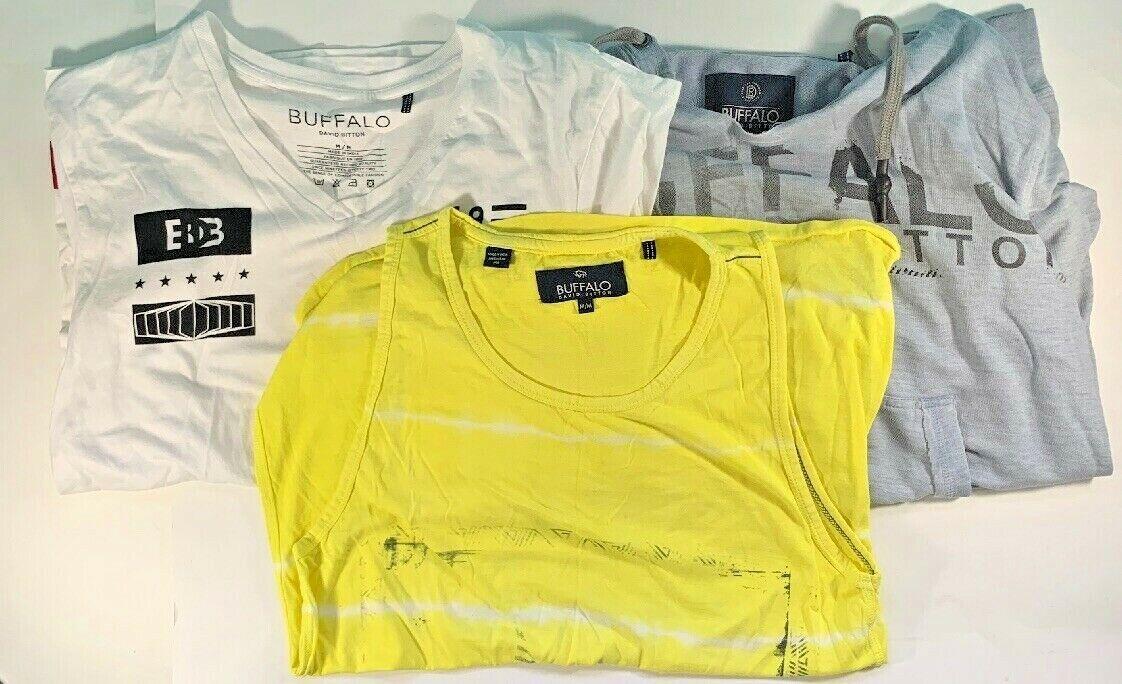 Buffalo David Bitton Hoodie T-shirt Tank Top Medium Men's Lot Clothes Lot Of 3