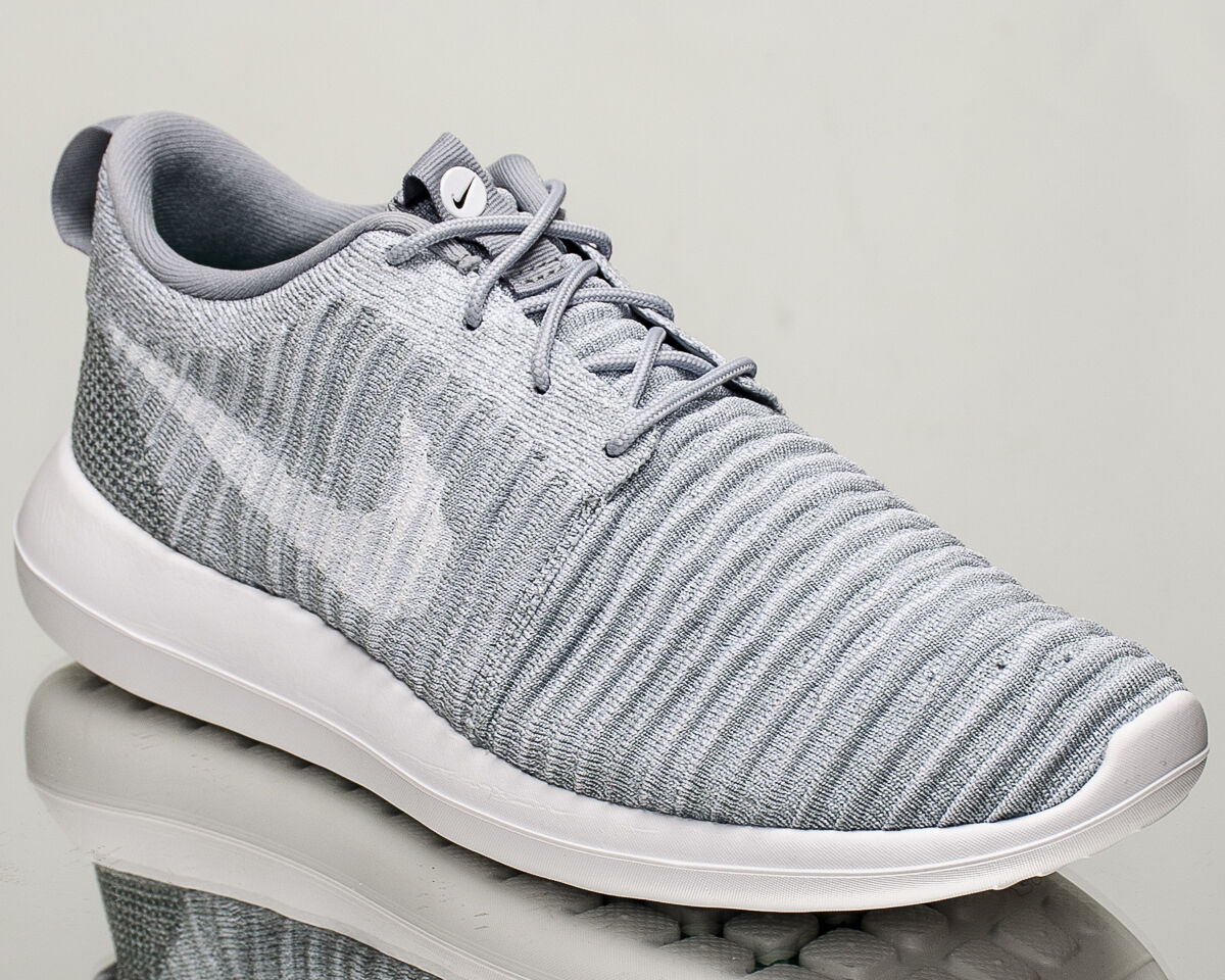 Nike Roshe wolf Two Flyknit 2 men lifestyle sneakers NEW wolf Roshe grey white 844833-008 0b365a