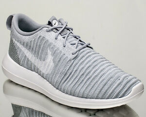 4a16fb0b72a8a Nike Roshe Two Flyknit 2 men lifestyle sneakers NEW wolf grey white ...