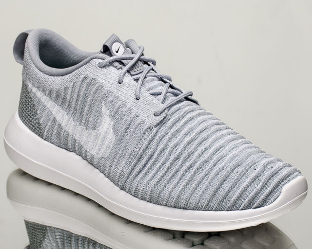 f2f156e3cb91c Nike Roshe Two Flyknit 2 men lifestyle sneakers NEW wolf grey white  844833-008