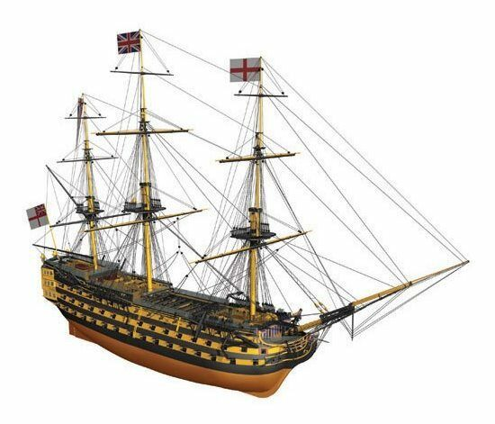 Mantua H.M.S. Victory träen Ship Kit skala 1 200 - Lord Nelson s flaggskepp