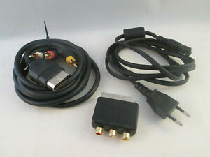 Xbox Set Official Cables Composite AV Cable Power Scart Adapter Classic Console