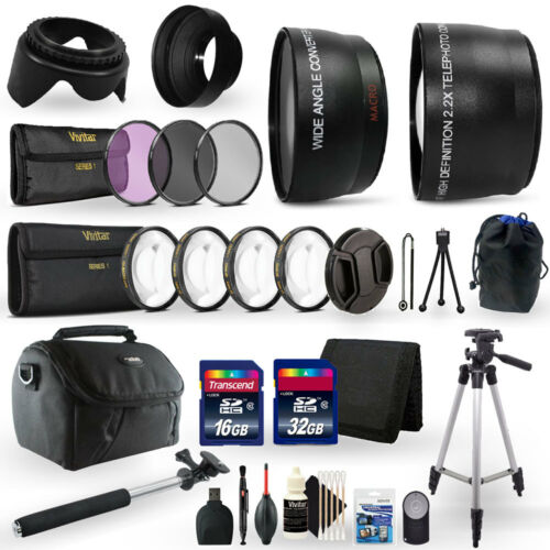 48GB Top Accessory Kit for Canon EOS Rebel T5i Digital SLR Camera