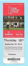 Sept 20,2012 Tour Championship Golf Ticket Brandt Snedeker Won