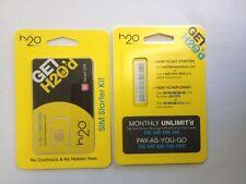 H2O Wireless 4G/LTE  2-in-1 SIM Karten - USA SIM Karten Prepaid