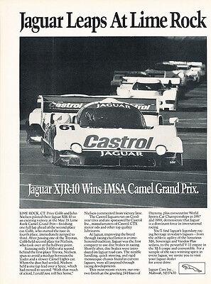 1996 Jaguar XJR Supercharged 322-hp Original Advertisement Car Print Ad J369