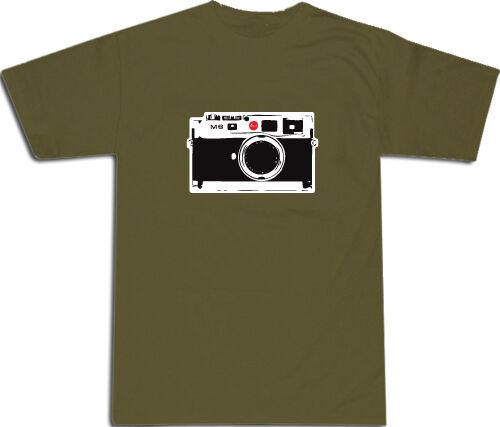 L /& XL # Army Green Leica M8 Design COOL T-SHIRT S