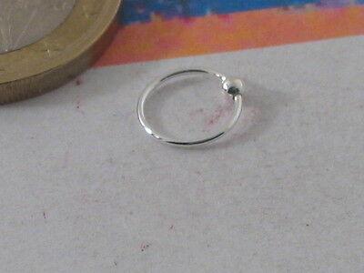 1 orecchino singolo da naso cerchietto p  argento 925 da 8mm adatti anche x lobo