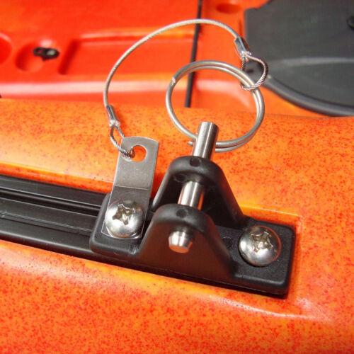 Nylon Deck Hinge with Quick Release Pin Lanyard for Kayak Slide Rail Anchor