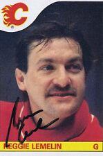 Rejean Lemelin 1985 Topps Autograph #95 Bruins