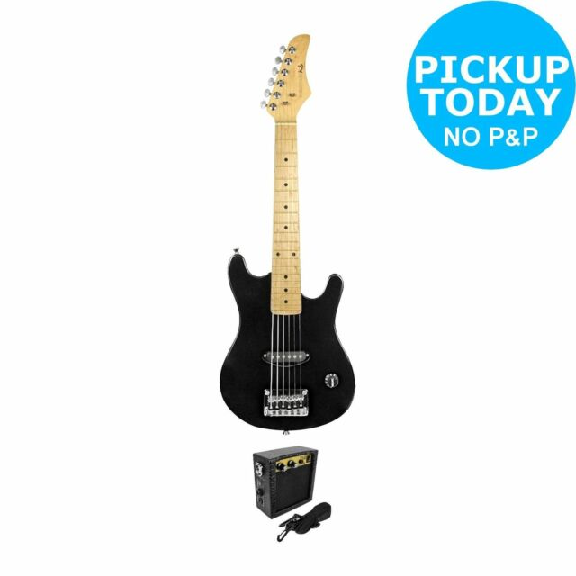 Quality Junior / Children's 1/2 Black Electric Guitar Package RRP 129.00