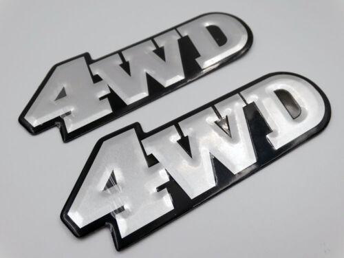 4WD Car Racing Motor Emblem Badges Logo Decal Sticker Soft Brushed Aluminum NEU