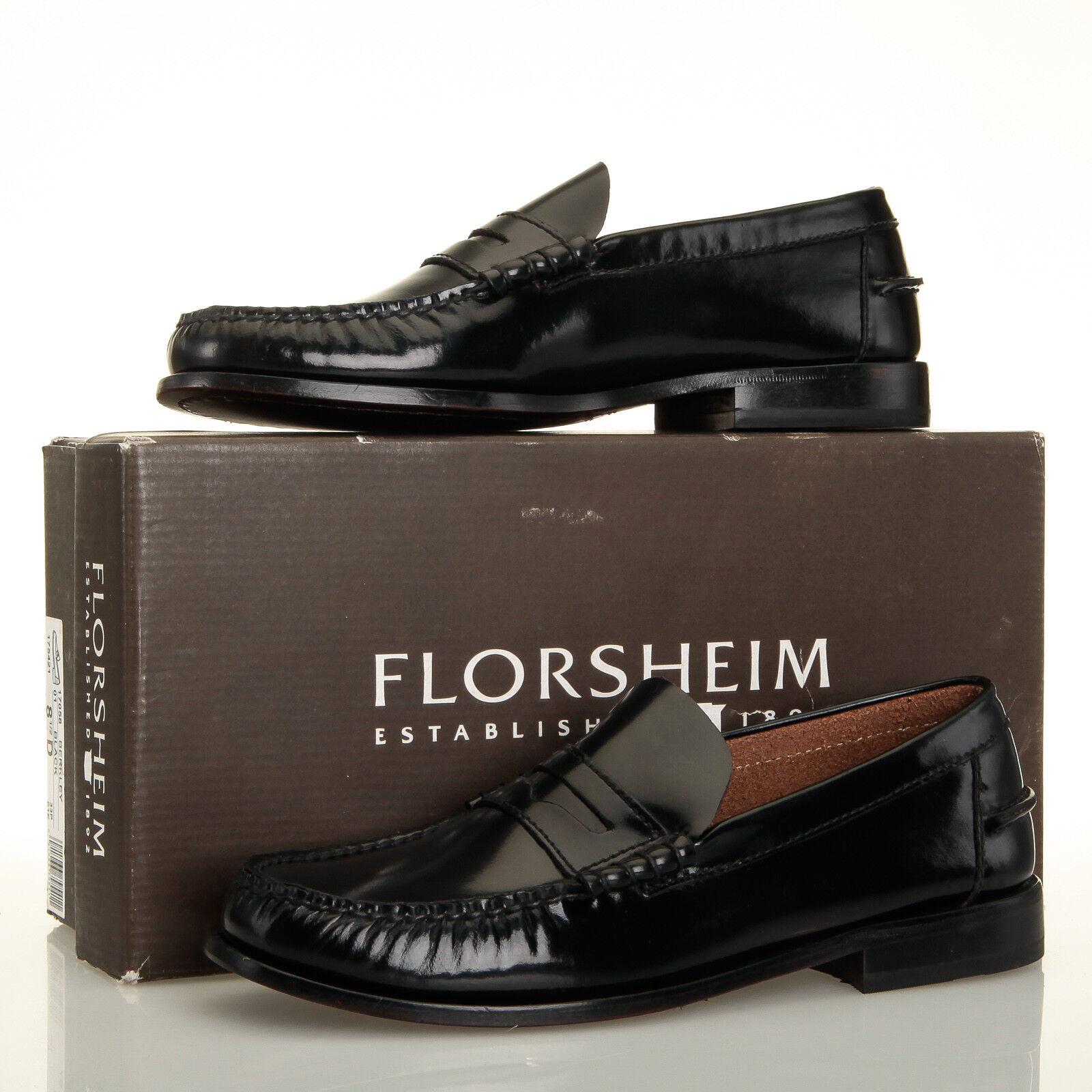 Florsheim Imperial en cuir noir Berkley Moc Toe Penny Mocassins-Homme 8.5 D