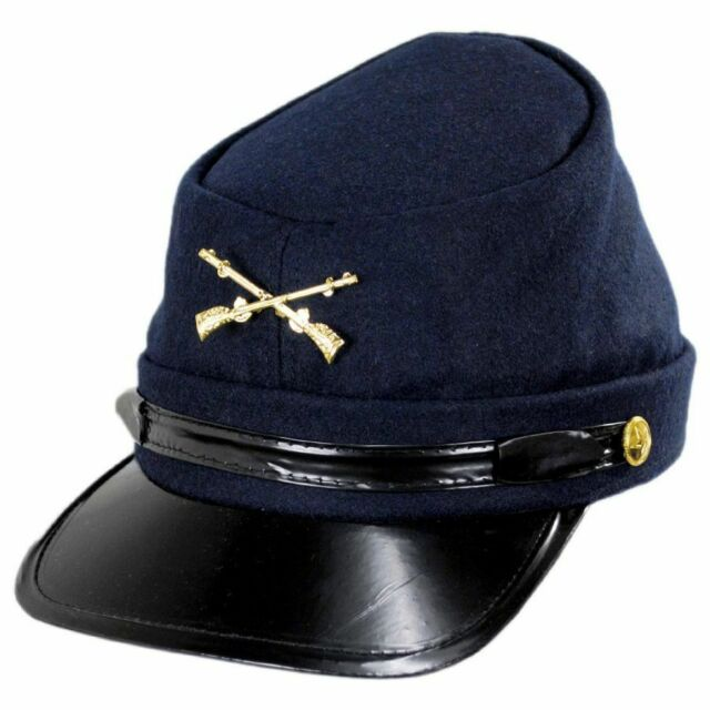 American Civil War Blue Confederate Generals Kepi Cap Hat 58//59cms Large