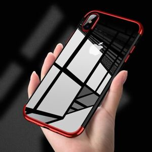 premium selection aa59d 06c82 Details about For iPhone X XS Max XR Shockproof Plating Clear Slim Hybrid  Bumper Case Cover