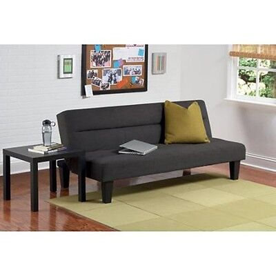 "Microfiber Futon Sofa Couch Sleeper 6"" Mattress Modern Stylish Day Bed Lounger"
