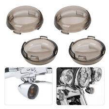 4x Smoke Lens Turn Signal Light Cover Lens for Harley Davidson Dyna Sportster US